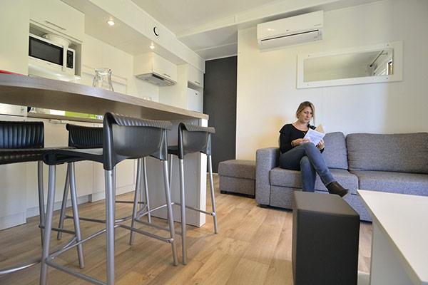 Les nouveaux mobile homes Taos au Cap d'Agde©D.Delaine/ccas