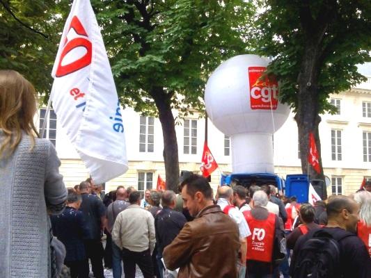 4 Juillet 2013, les fédérations syndicales contre le plan prévoyant le licenciement de la SNET©Dir.Com/ccas