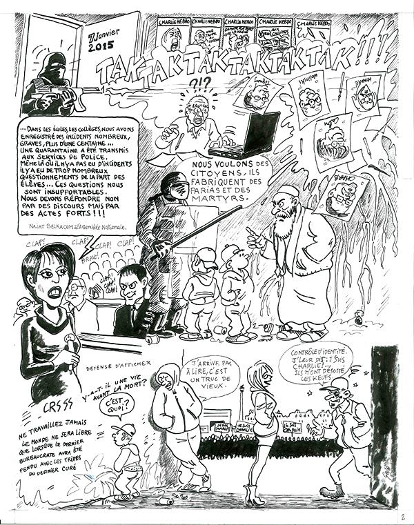 Attentats à la rédaction de Charlie Hebdo©Golo