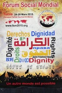 Forum Social Mondial à Tunis. du 224 au 28 février 2015