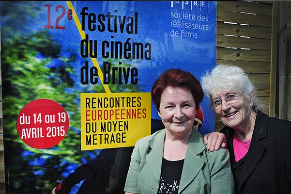 Lucette et Michelle aux Rencontres européennes du moyen métrage de Brive-La-Gaillarde©J.Marando/ccas