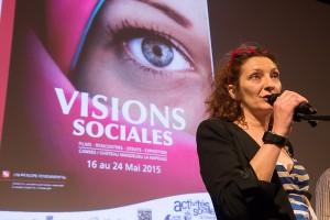 Corine Masiero, marraine de Visions sociales 2015© Eric Raz/CCAS