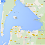 Carte du bassin d'Arcachon