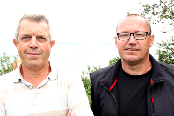 Alain Bruder, skipper, et Christian La Croix, équipier © Noémie Coppin/ccas