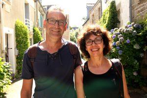 Pascal et Elisabeth Houillot bénéficiaires de Tours en vacances à Baden © Noémie Coppin/ccas
