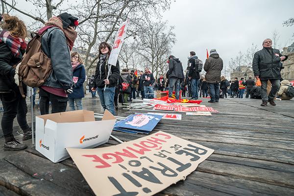 Journée d'actions contre l'avant projet de loi modifiant le code du travail - 17 mars 2016