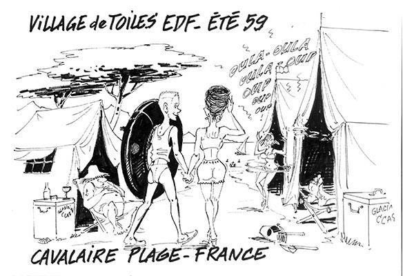 Dessin d'André Houot, fils d'agent EDF