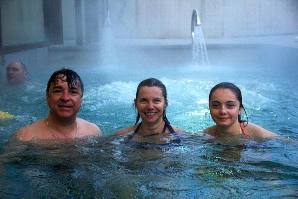 Luz Saint Sauveur, la famille Danche au centre aqua-récréatif © Noémie Coppin
