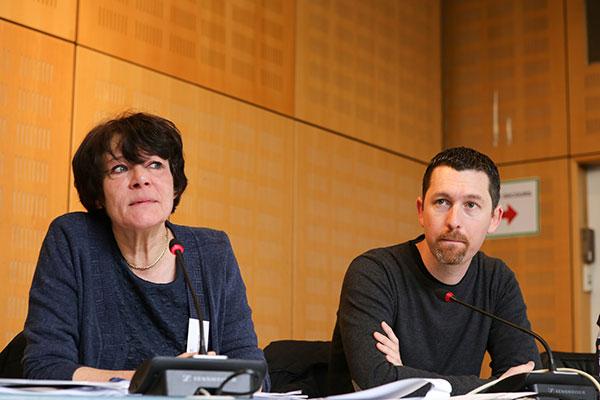 Lancement du Projet éducatif - Lionel Pipitone, Président de la commission jeunes de la CCAS & Brigitte Magniadas, Pilote du projet éducatif - © Charles Crié