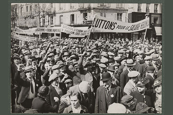 Défilé du 1er Mai vers 1937-1939 © Mauric - Mémoires d'Humanité / Archives départementales de la Seine-Saint-Denis