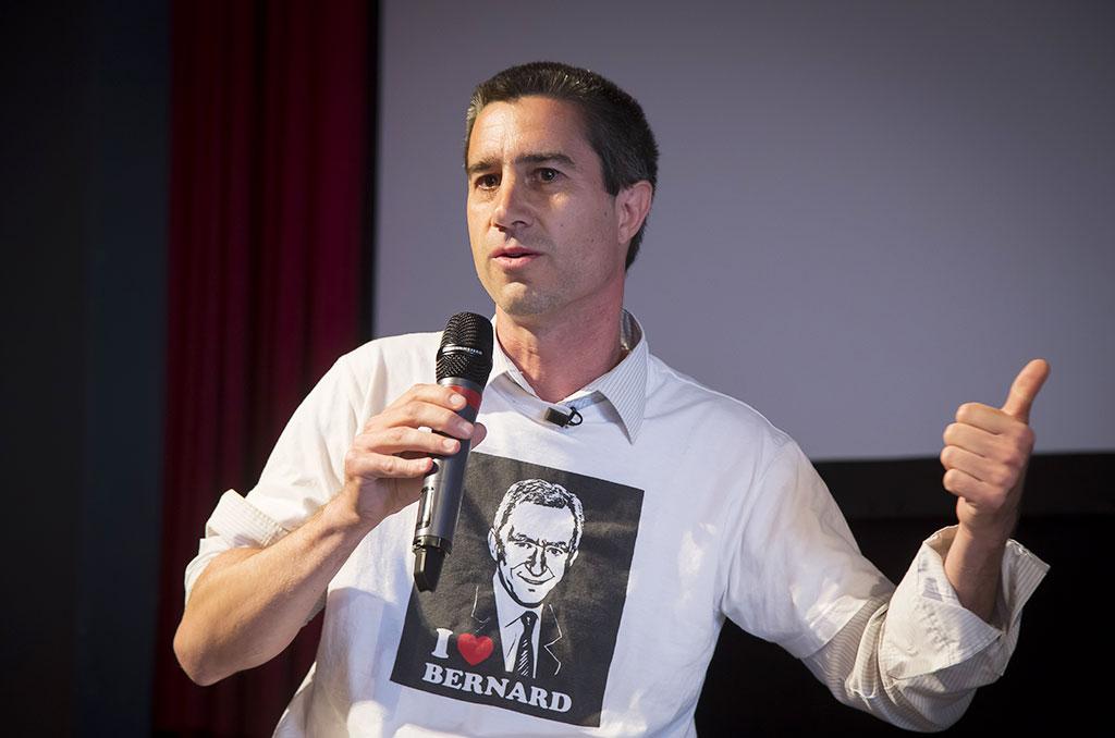 Invité cette année de Visions Sociales , François Ruffin est le réalisateur du film Merci patron. © Eric RAZ/ccas