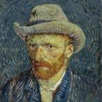 « Autoportrait au chapeau de feutre gris », 1887