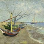 « Bateaux de pêche sur la plage des Saintes-Maries-de-la-Mer », 1888
