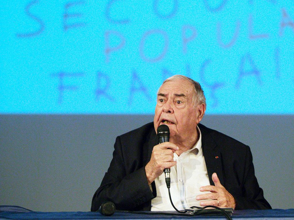 Julien Lauprêtre, président du Secours populaire français. © C.Crié/ccas