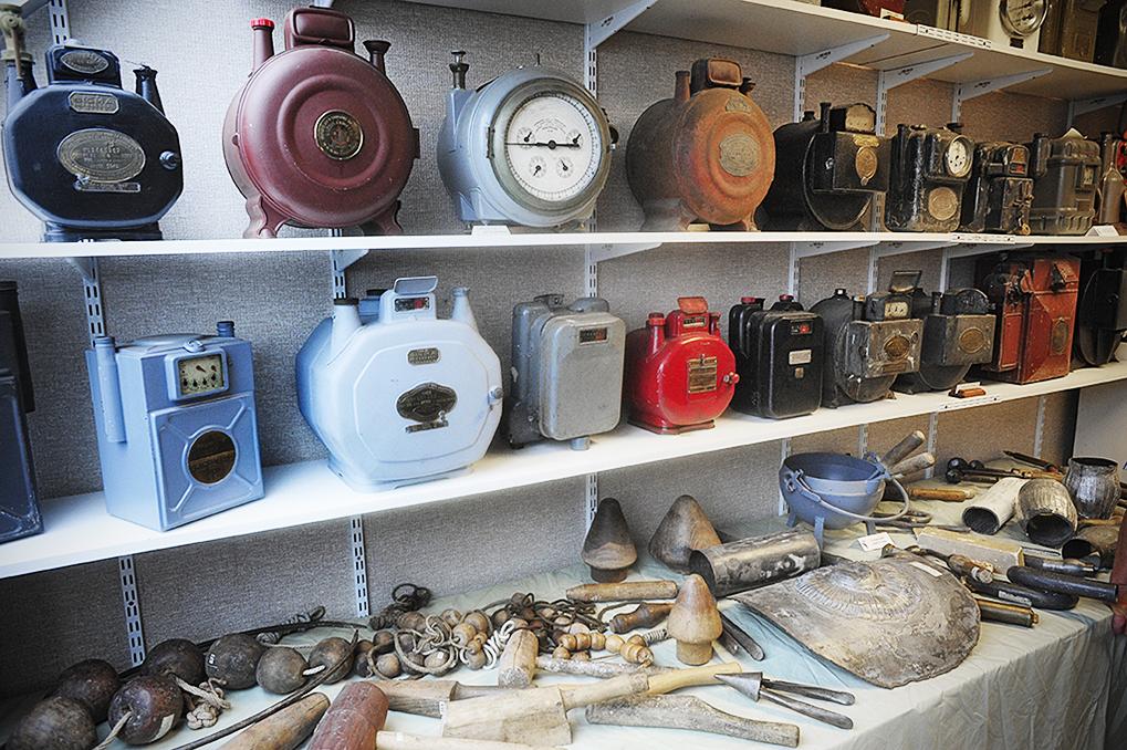Collection de compteurs à gaz au Musée du patrimoine gazier (Amiens), CMCAS de Picardie. © J.Marando/ccas