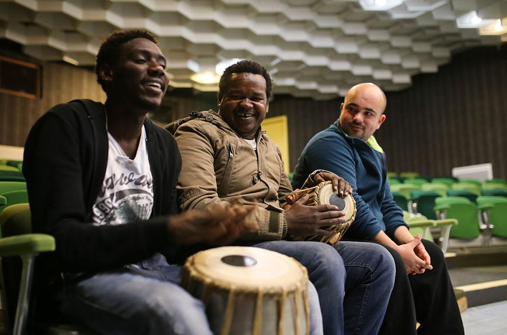 Ali, Awad et Anthony ©C.Crié/CCAS