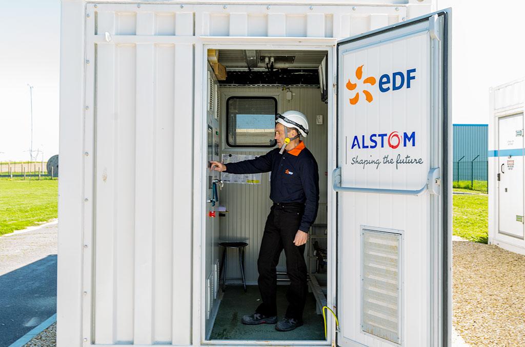Générateur mobile EDF/Alstom aux Renardières (Seine-et-Marne). ©M.Caraveo/EDF