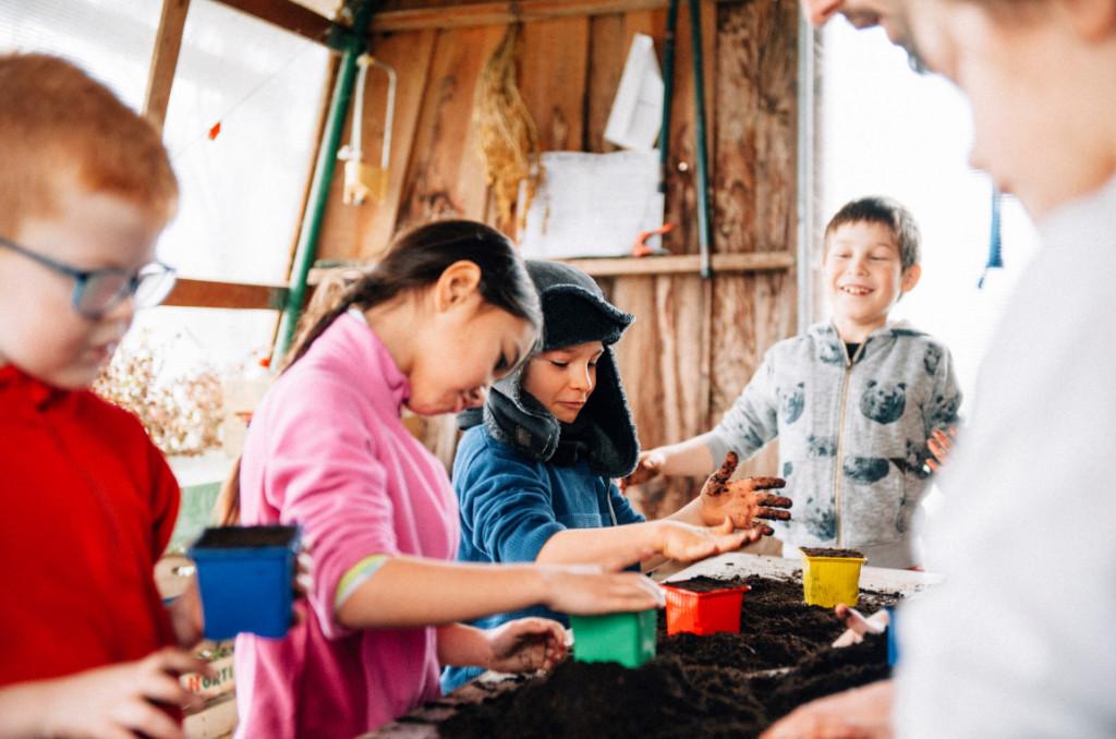 Colo 4-8 ans à la ferme pédagogique de Paillac, février 2018 (voir toutes les photos). ©Sébastien Le Clézio/CCAS