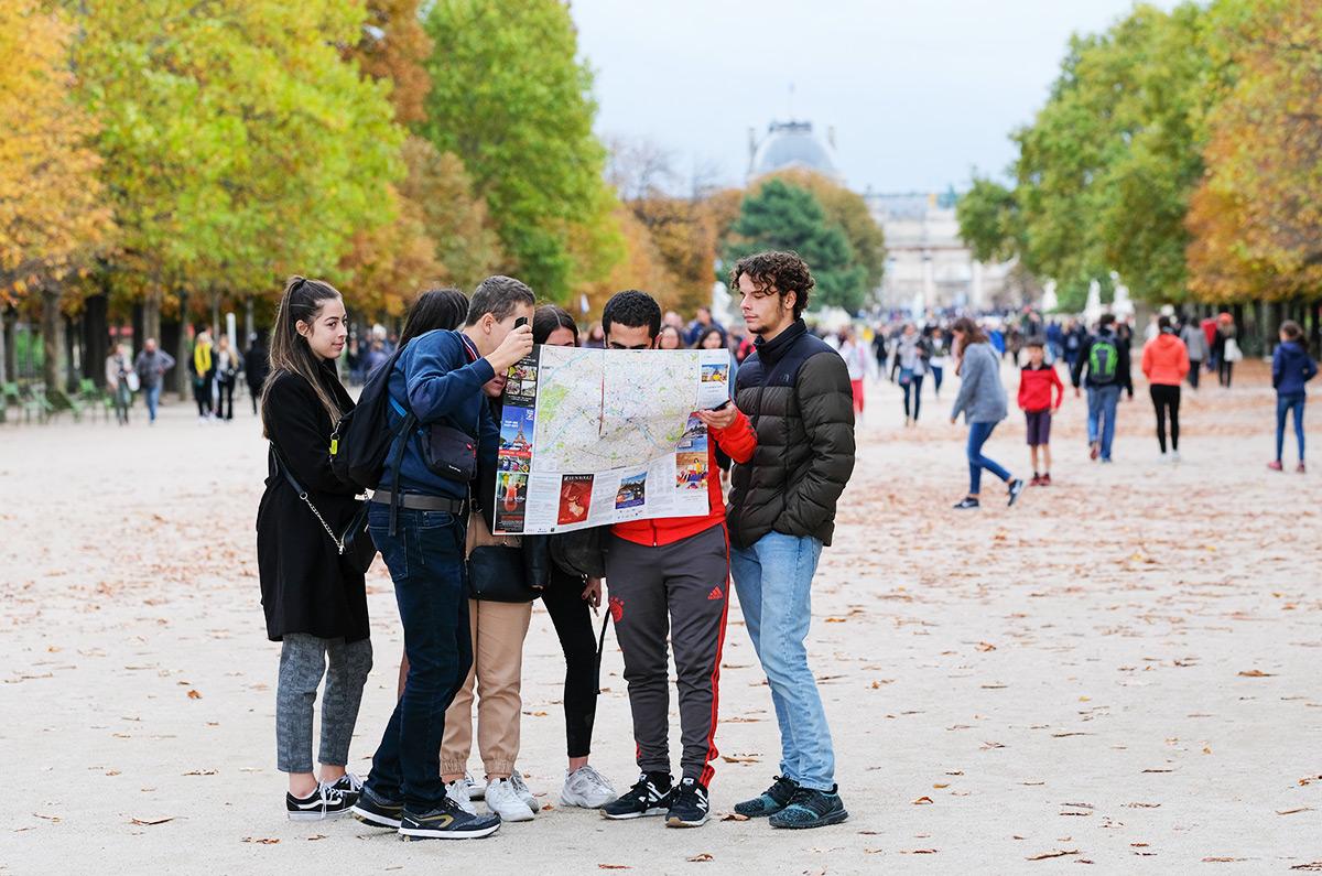 Colo 15-17 ans, capitale Régionale (Paris), ici au Jardin des Tuileries.