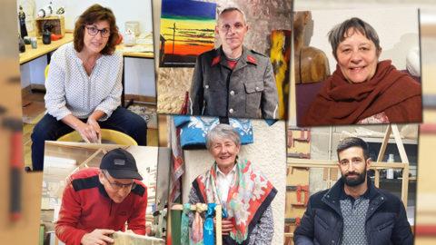 mosaïque de portraits de créateurs amateurs - ccas