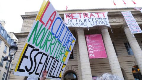 Occupation du théâtre de l'odéon à Paris, le 13 mars 2021